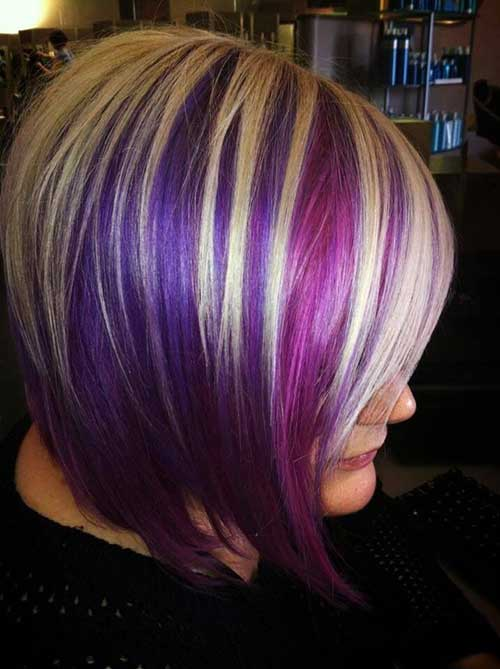 Purple Blonde Bobs Girls