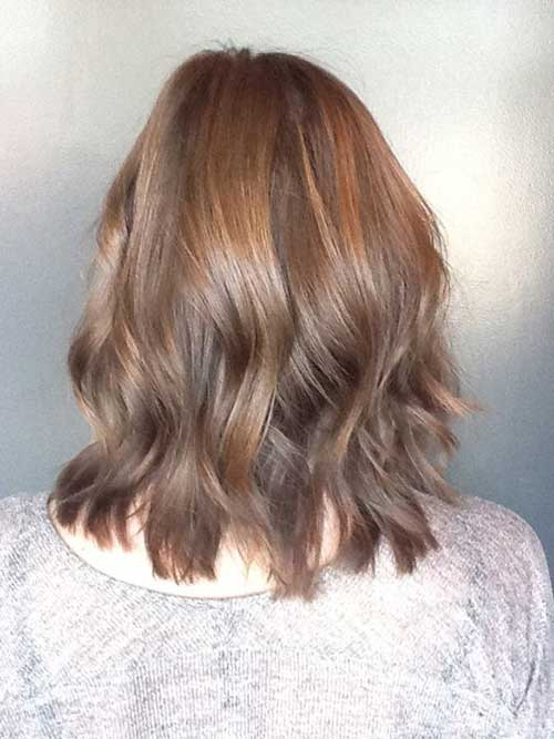Brunette Medium Bob Hair