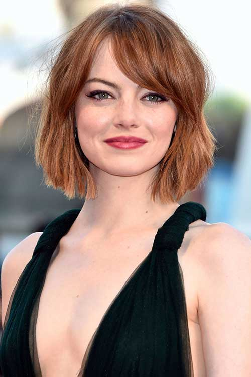 Emma Stone Bob Haircut 2014-2015