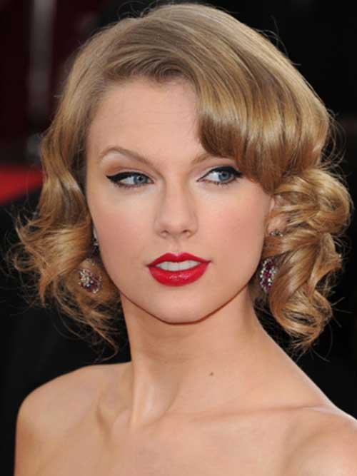 Taylor Swift Formal Hairstyles for Bobs
