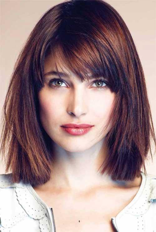Surprising 25 Long Bob With Bangs Bob Hairstyles 2015 Short Hairstyles Hairstyles For Women Draintrainus