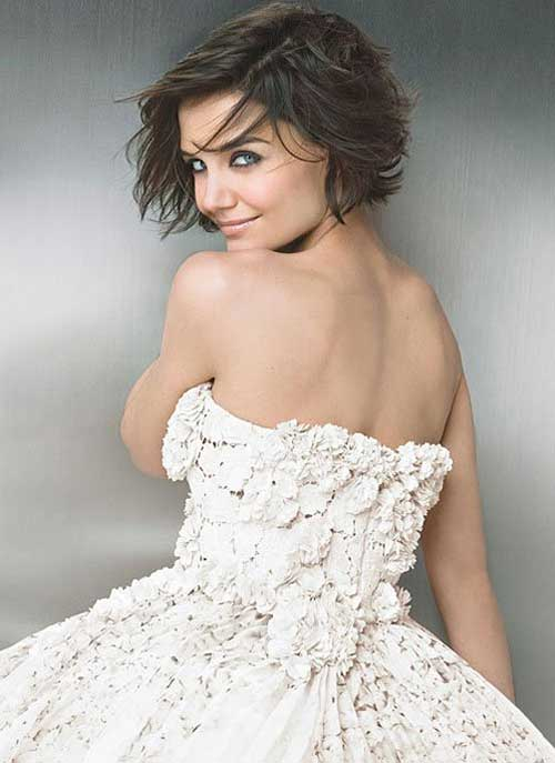 Katie Holmes Wedding Bob Hair