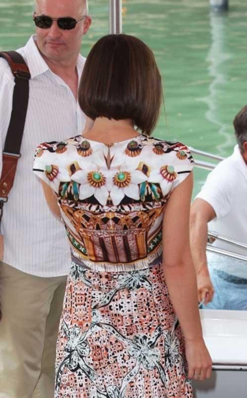 Keira Knightley Bob Hairstyles Back View