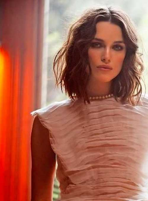 Keira Knightley Medium Wavy Bob Hairstyles