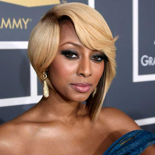 Keri Hilson Blonde Bob Haircut