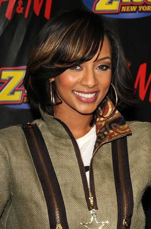 Keri Hilson Bob Hairstyles for Black Women