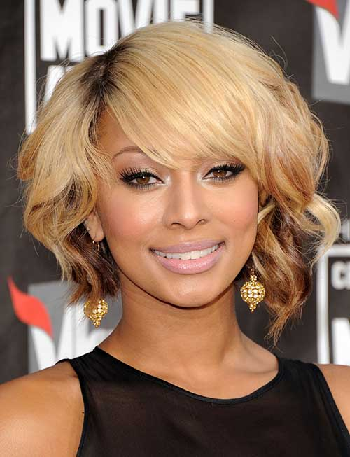 Keri Hilson Bob with Dark Roots