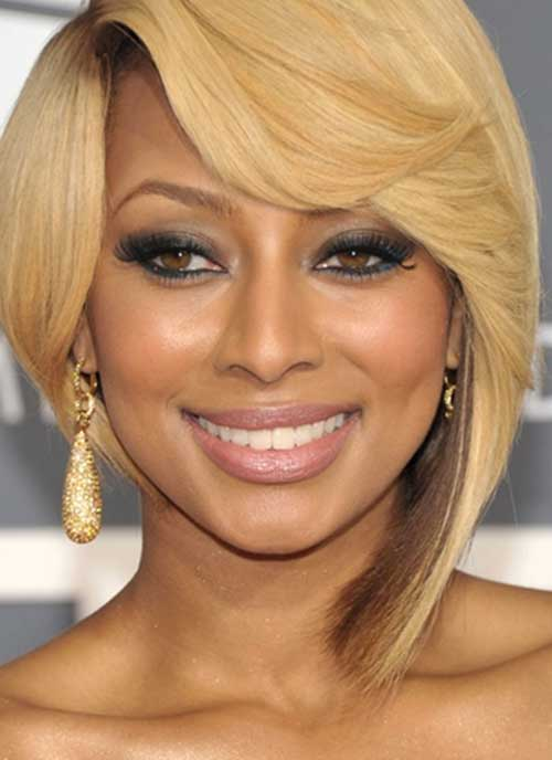 Keri Hilson Short Bob Side Parted Hairstyles
