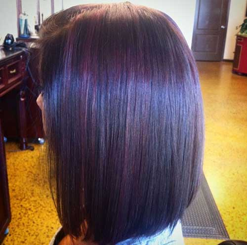 Long Bob Dark Straight Hairstyles