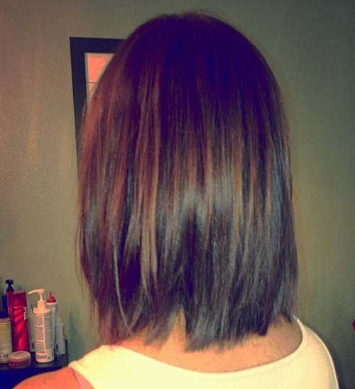 Long Graduated Brunette Bob