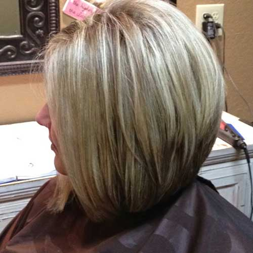 Long Layered Stacked Bob Hairstyles