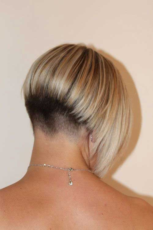20 very short bob haircuts bob hairstyles 2017 short short bob cut with shaved nape back view urmus Image collections