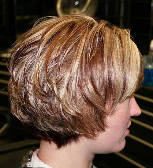 Short Bob Hairstyles with Layered Bangs