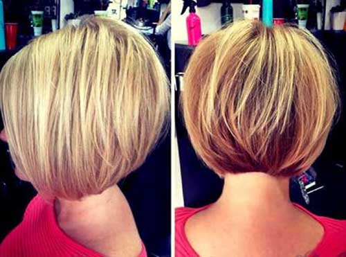 Short Bobbed Blonde Hairstyles 2014-2015