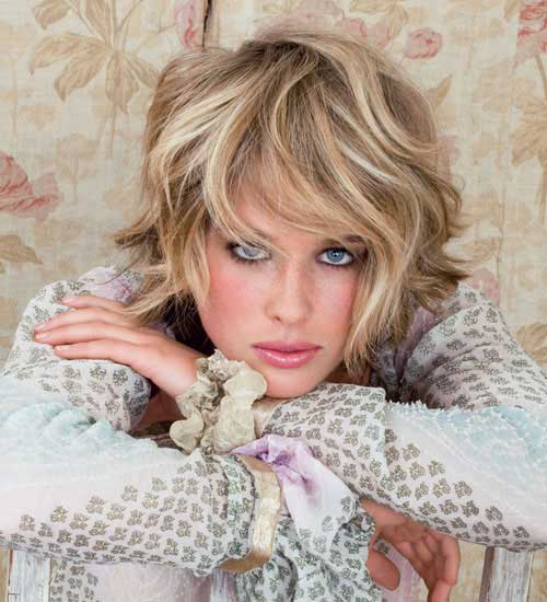 Short Shaggy Wavy Hairstyles 2014-2015