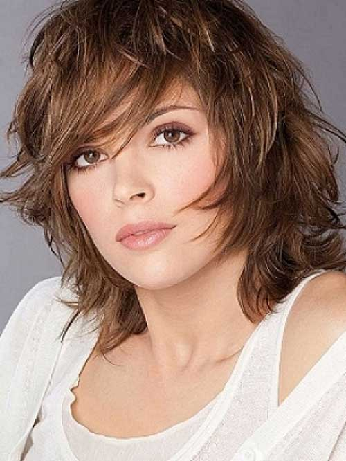 Shoulder Length Layered Shaggy Bob Haircuts