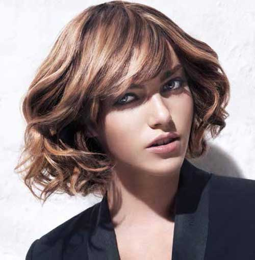 Thick Formal Bob with Curly Ends