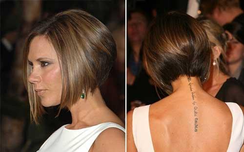 Victoria Beckham Graduated Bob Hairstyles