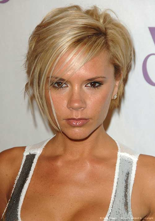 Victoria Beckham Layered Hair Bob