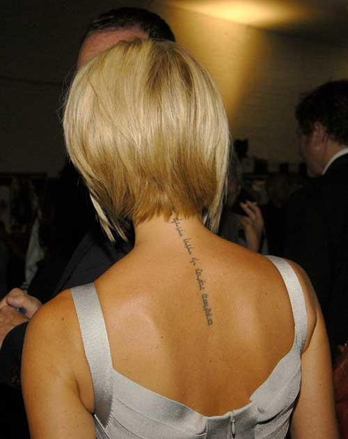 Victoria Beckham Layered Bob Back View