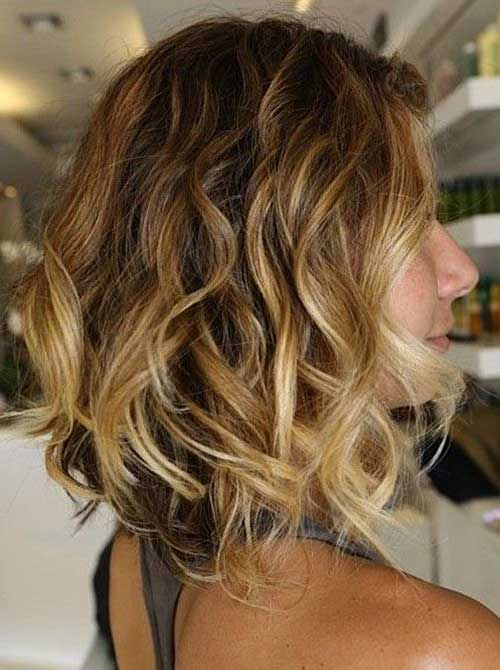 Wavy Long Bob Hair with Layers