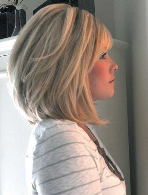Ash Blonde Long Graduated Bob Hairstyles
