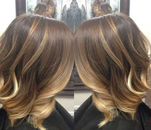 Balayage Brown Bob Haircut