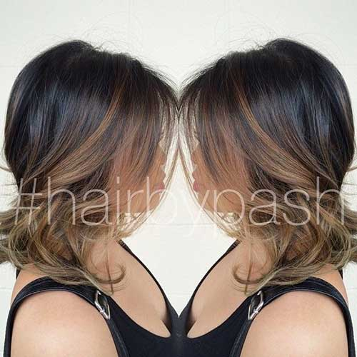 Balayage with Wavy Bob Haircuts