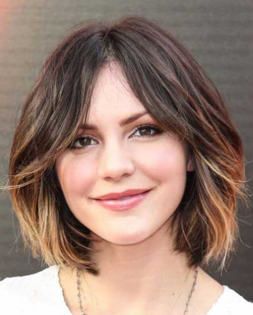 Balayage with Wavy Chin Length Bob Haircuts