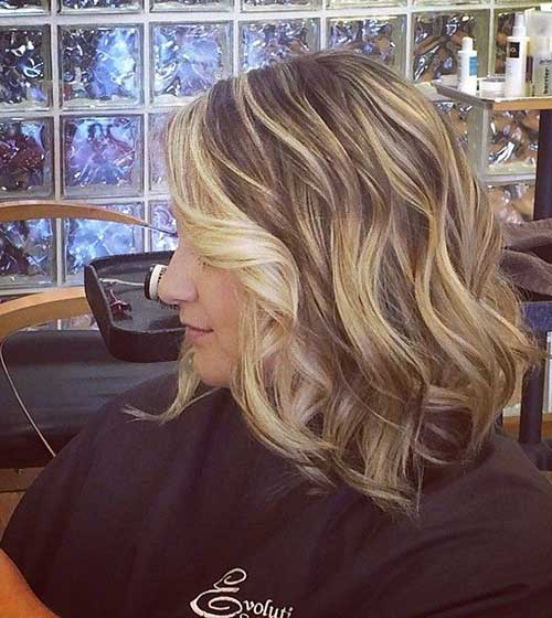 Blonde Balayage with Wavy Bob Hair