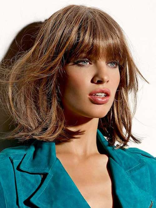 Bob Cut with Bangs Hair Ideas Pictures