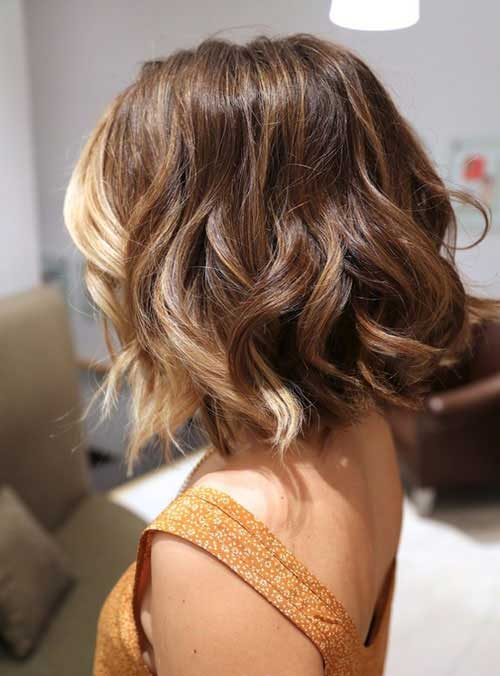 Bobs with Balyage Color Hair