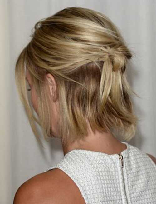 Bobs with Blonde Hair Back View
