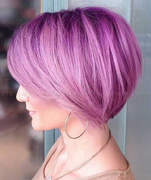 Bobs with Pink Hair Color