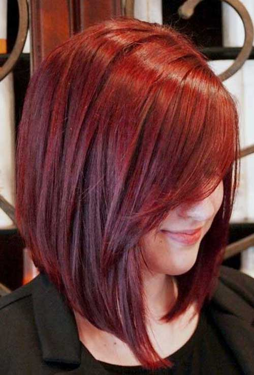 Bobs with Red Hair Color