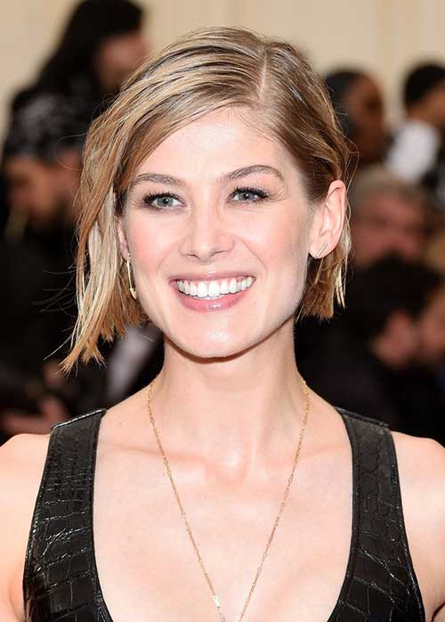 Celebrity Side Swept Bob Hairstyles 2014-2015