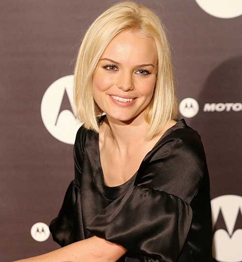 Celebrity Straight Short Blonde Bob Cuts