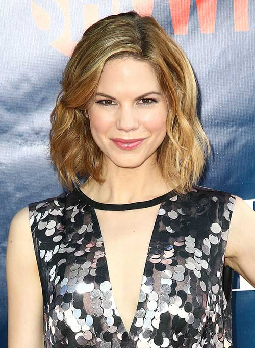 Celebrity Wavy Bob Hairstyles Ideas 2014-2015