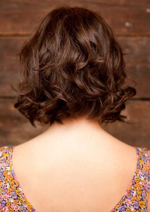 Curly Bob Hairstyles Brown Hair Color Ideas