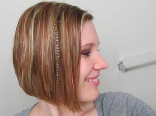 Inverted Blonde Bob Cuts