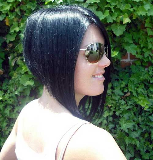 Inverted Dark Bob Cut