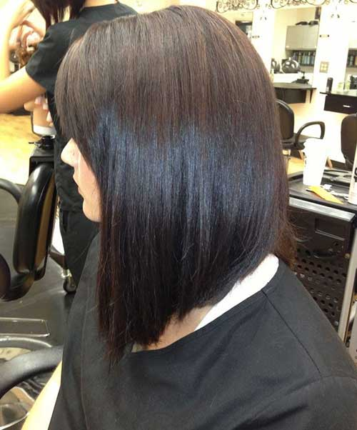 Dark Inverted Bob Hair Cut