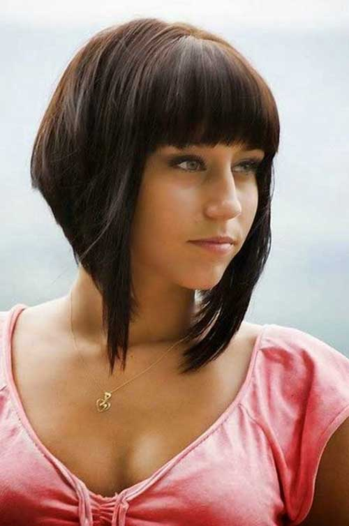 Inverted Bob with Bangs Hair Cut
