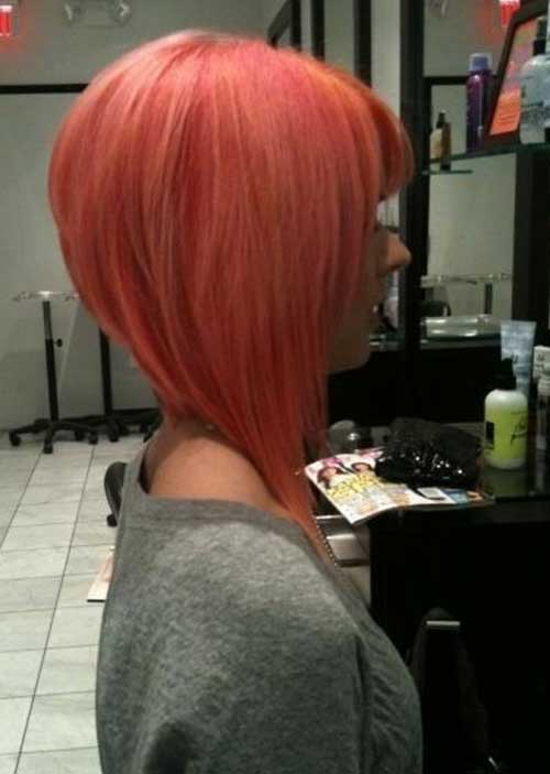 Inverted Pink Bob Haircuts