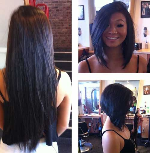 Inverted Straight Dark Bob Haircut Idea