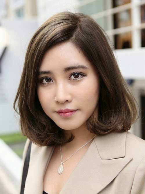 Japanese Brown Bob Hair