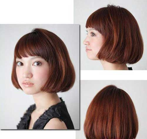 Best Japanese Bob Hairstyle with Bangs