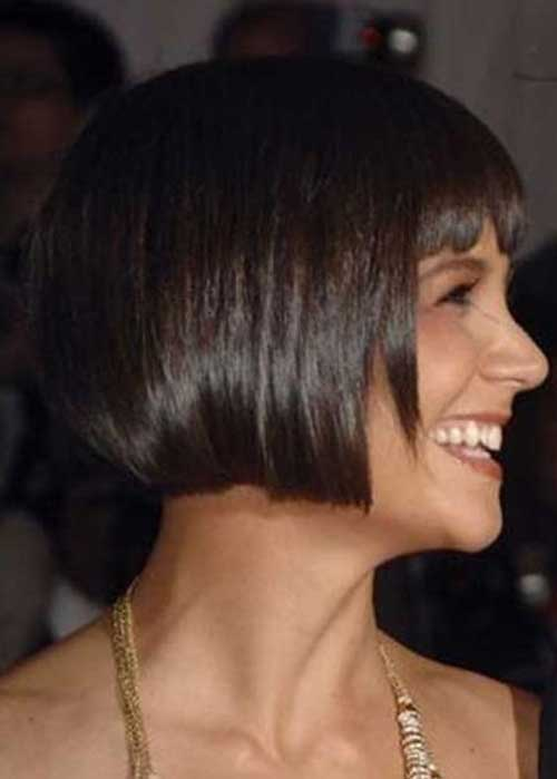 Katie Holmes Blunt Bob Haircuts Side View