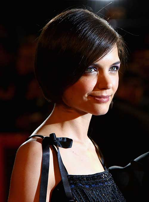 Katie Holmes Bob Hair Side View