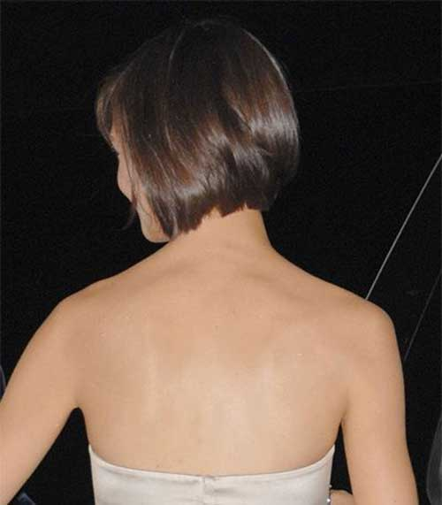 Katie Holmes Bobs Hair Back View